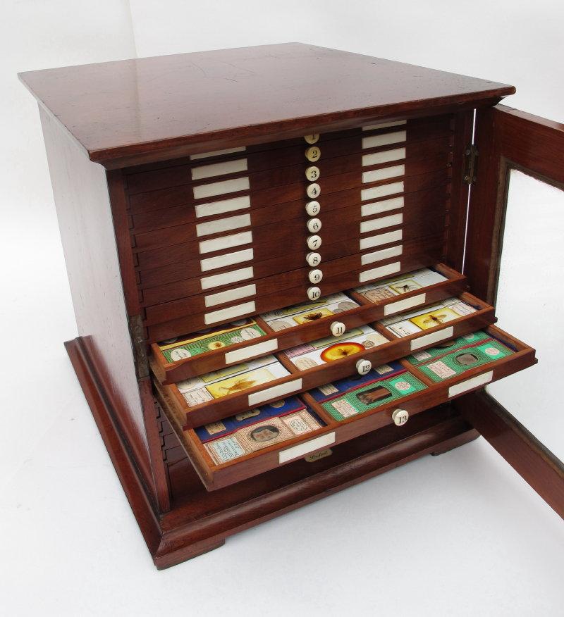 Microscope Slide Collectors Cabinet M Pillischer